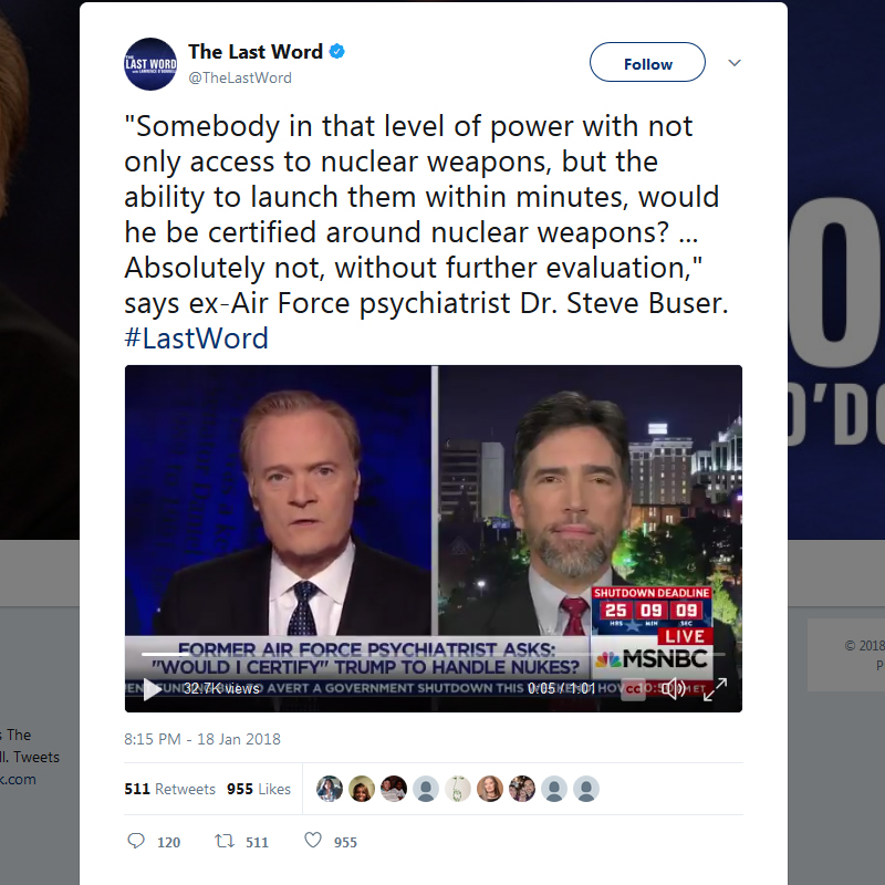 Editor Steve Buser on the Lawrence O'Donnell Show