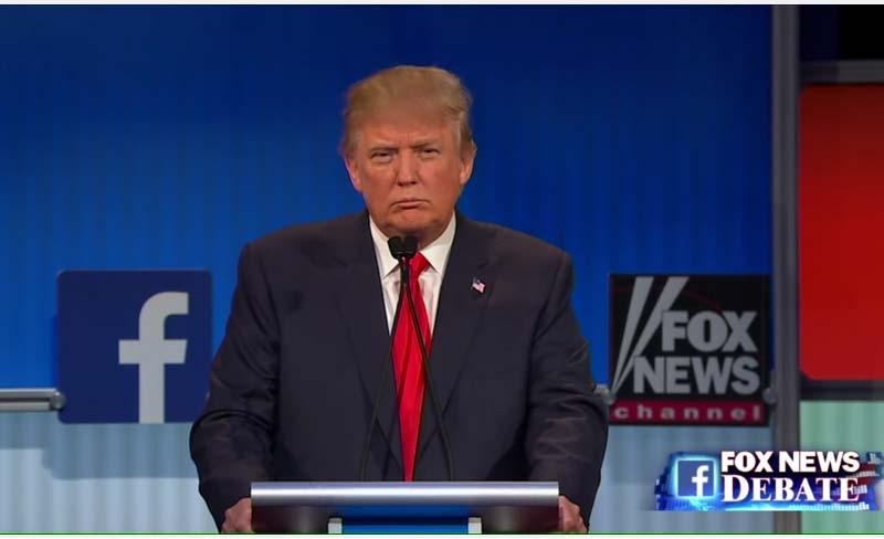Donald Trump talks to Megyn Kelly