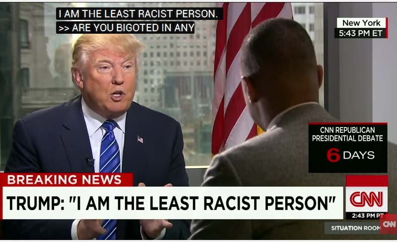 """""""I'm the least racist person"""""""