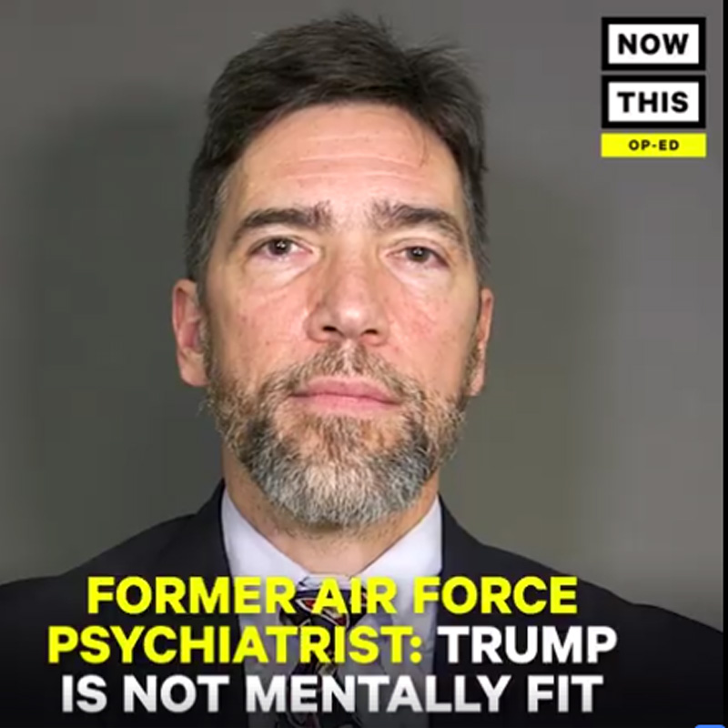 Former Air Force psychiatrist: Trump isn't mentally stable enough to control our nukes